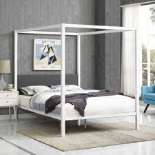 Queen Canopy Bed Frame White | Wayfair