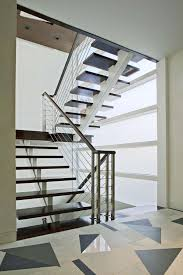 Fabulous Chrome Handrail With Simplistic Modern Stairs Style As Well As  Cable Banister As Contemporary Loft House Designs Tips
