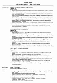 Campus Recruiter Sample Resume Campus Recruiter Sample Resume Best Of Specialist Talent Acquisition 16
