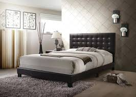 full size of ireland queen faux leather bed black platform white tufted acme espresso set home