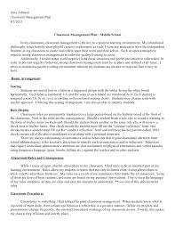 classroom management plan amy johnsonclassroom management plan8 2 2011 classroom management
