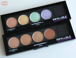 l oreal infallible total color correcting concealing kits