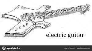 заделывают лежа электрической гитары штриховые рисунки наброски