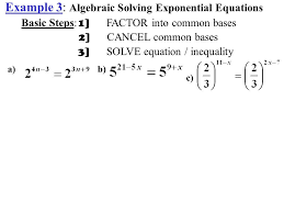 7 example 3 algebraic solving exponential equations