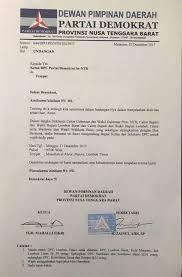 Salah satu contoh dari surat niaga adalan surat penawaran dan surat penagihan. Beredar Undangan Deklarasi Calon Kepala Daerah Dari Partai Demokrat Mahally Fikri Bungkam