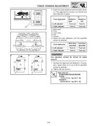 Tra Clutch Ramp Chart Yamaha Rst90k Snowmobile Service Repair Manual