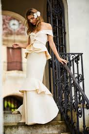 Johanna Ortiz Launches Ruffled, Off-the-Shoulder Wedding Dresses ...