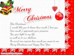 Christmas Blessing Quotes New Christmas Messages For Wife 48greetings