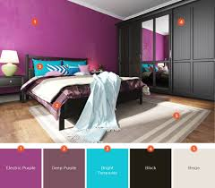 if you decide to paint your room with a bright color make sure to balance it out by using darker colors such as