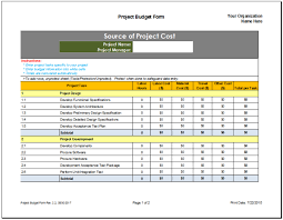 Budget Planning Template Excel Project Budget Planner Template Budget Templates