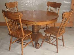 stylish incredible antique 47 inch round oak pedestal claw foot dining room used oak dining room table and chairs decor