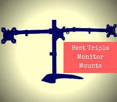 best triple monitor mount reviews