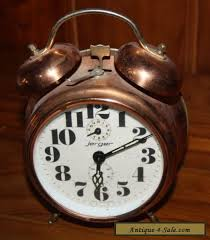 jerger alarm clock german made modern style in gold wind up for