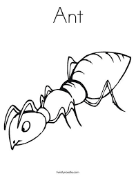Ant Coloring Page Tracing Twisty Noodle Bug Quilt Coloring