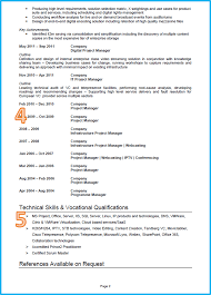 example of a good cv project manager cv page 2 middot cv template