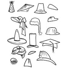 Small Picture Coloring Page Of A Hat Pretty Pagesgif Coloring Pages Maxvision