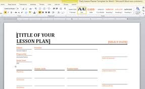 Microsoft Word Presentation Template Daily Lesson Planner Template For Word