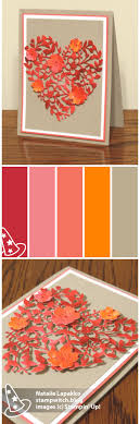 Coral Color Combinations 822 Best A Stampin Up Colors Images On Pinterest Card Sketches