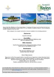 Laundry Supervisor Foreign Jobs In South Ari Atoll