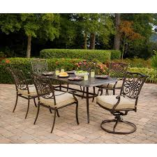 hanover traditions 7 piece patio outdoor dining set with 4 dining chairs 2