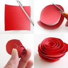 Rose Paper Flower Making Diy Paper Flower Tutorial Step By Step Instructions