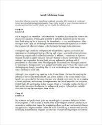 essay in doc college scholarship essay