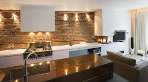 down lighting ideas. Kitchen Open Layout Red Brick Backsplash Range Cooktops Wall Mount Hood Touchless Faucet Undermount Sink Glass Down Lighting Ideas K
