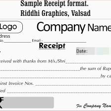 Format Of Receipt Format For Receipt Complete Guide Example 2
