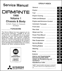 1998 mitsubishi diamante repair shop manual set original covers all 1998 mitsubishi diamante models including es and ls these books measure 8 5 x 11 and are 2 88 thick together buy now to own the best manual