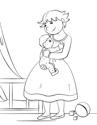 mother hugging her child coloring page professions coloring pages free coloring pages on plumbing job sheet template