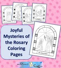 Coloring is a very useful hobby for kids. Free Printable Mysteries Of The Rosary Coloring Pages Drawn2bcreative
