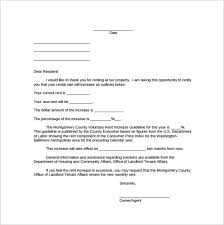 how to write a rent increase notice sample rent increase notice 10 free documents in pdf word