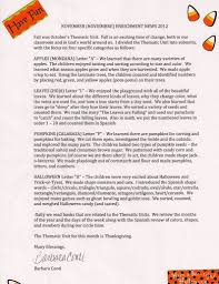 Preschool Newsletter Ideas October Preschool Newsletter Ideas