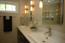above mirror lighting. Bedroom Transparent Glass Shower Door Jet Black Bathroom Carpet Oval White Porcelain Drop-in Sink · Over Mirror Lights Above Lighting
