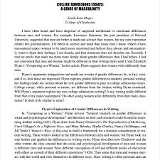 Sample Admissions Essay Literature Essay Sample Compare And Contrast High School And