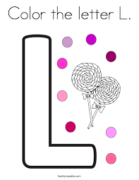 Small Picture Letter L Coloring Pages Twisty Noodle