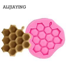 M1279 1Pcs Cartoon bee honeycomb silicone sugar mold cake ...
