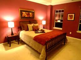 Glancing Red Bedroom Wall Together With