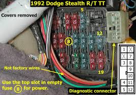 stealth 316 air conditioning troubleshooting tips 3000gt stereo wiring diagram at 1996 Mitsubishi 3000gt Vr4 Under Dash Fuse Box Cover