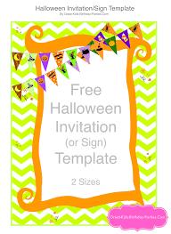 Pumpkin Invitations Template Free Halloween Printables