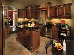Beautiful Kitchen Color Ideas With Wood Cabinets Of Dark Clasics Inspiration