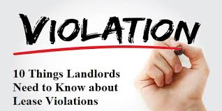 Lease Violations 10 Things Landlords Need To Know About Lease Violations