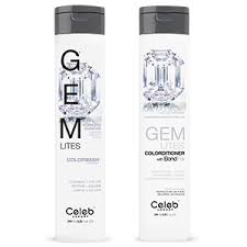 Celeb Luxury Gem Lites Colorwash Color Depositing Shampoo Stops Fade Cleanse Color Sulfate Free Cruelty Free 100 Vegan