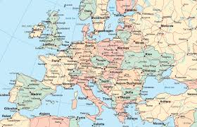 map of europe with cities and towns  world maps