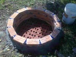 luxury build a fire pit with red bricks how to brick diy ttrctive rhmiuikscom plns plce