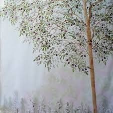 wall stencil olive tree 400