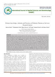 Pdf Dietary Knowledge Attitude And Practices Of Diabetes