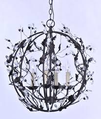elegante elegante 3 light chandelier