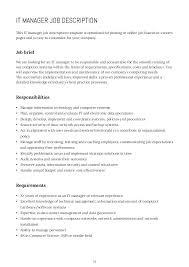 Personnel Management Job Description Comprehensive Job Description Template Word Excel View