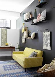 Yellow Living Room Accessories Living Room Yello And Grey Sofa With Black Wall Colors Stunning